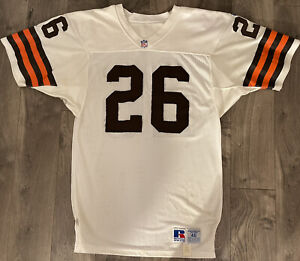 """Ron Wolfley Cleveland Browns Game Worn Jersey 46 +2"""" Russell Athletic 90s NFL"""