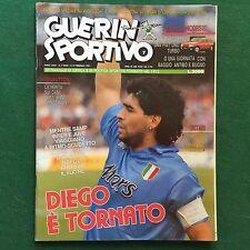 GUERIN SPORTIVO n.7/1991 DIEGO MARADONA E' TORNATO CAMPIONATO FLASH 20°
