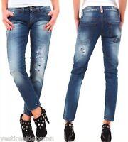 Jeans Donna Pantaloni SEXY WOMAN A616 Slim Blu Tg 26 27 28 29 30 veste piccolo