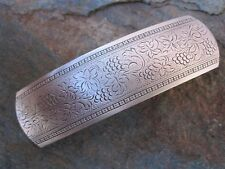 Grape & Braid Antiqued Silver Plated Brass French Clip Hair Barrette New USA 006
