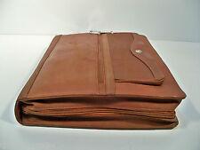 Full Grain Leather Fan File Folio Portfolio, In Brown, Red-Brown or Black-Brown