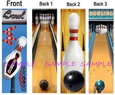 3 SET/Lot-BOWLING BOOKMARKS Bowl Team Sport Pin Ball Card Lane Shoe Fun Sign ART