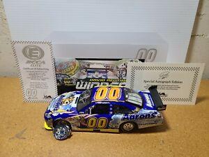 2009 David Reutimann #00 Aaron's Lowe's Win Autograph RCCA Elite 1:24 NASCAR MIB
