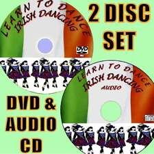 BEGINNERS GUIDE IRISH DANCING REELS & JIGS DANCE STEP BY STEP GUIDE NEW DVD + CD