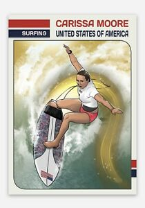 Carissa Moore United States USA Women's Surfing 2020 Tokyo Olympics Trading Card