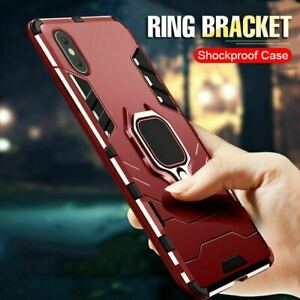 Case For iPhone 13 12 SE XR XS 8 7 Shockproof Rugged 360 Ring Stand Armor Cover