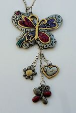 r BUTTERFLY CAR MIRROR CHARM JEWELRY REAR VIEW new driver dragonfly flower color