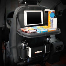 Car Seat Back Bag Organizer Storage Cup iPad Phone Holder Pocket Leather Black