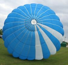 Strong Lopo 26ft Round reserve skydiving parachute canopy - blue/white