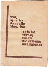 "AVANT-GARDE Cover ""Lietuvos Inteligentija"" Jurgis Dabrila Book LITHUANIA 1930"