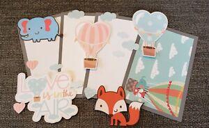 Baby love is in the air scrapbook set photo mat & printed die cuts set #457