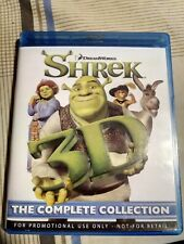 New Shrek 3D The Complete Collection 4 - 3D Blu-Ray Discs Complete Promo Set