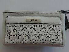 GUESS Women's White Laser Zahara Tech Wristlet/Wallet Style: 28715703
