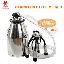 Cow Milker 304 Stainless Steel  Top Quality  Milk Bucket  Cow Milking Equipment