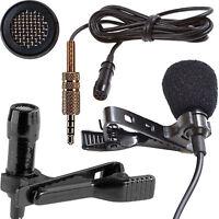 3.5mm Gold TRRS Jack Professional Cardioid Lapel Microphone Long Cable 4m 6m 12m