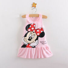 Newborn Summer Baby Girls Cute Princess Minnie Vest Dress Pink 12-18Months