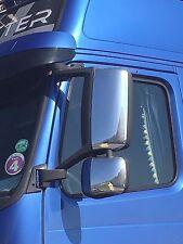 VOLVO FH & FM camion non cromato acciaio inox specchio copre! Sinistra & Destra!