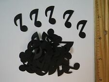 40 Fiskars Music Note Paper Die Cut Punches Confetti Toppers Scatter in black