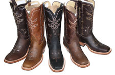 Cowgirl Boots Womens Lazer Cut Cow Hide  Leather $89.99 Lazer Cut Style D05