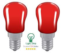 2 x Coloured Pygmy 15W SES E14 Small Edison Screw Cap Colour Light bulb RED
