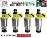4 Motor Man 23250-74040 Denso Fuel Injectors 90-92 Toyota Celica /& MR2 2.2L