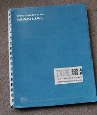 Tektronix TYPE 535A/545A Service Manual all Schematic, Parts: 070-145 070-163