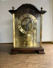 Haller table clock, solid walnut, classic dial, pendulum clock, made in Germany