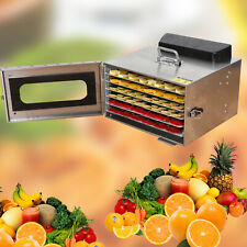 6 Trays Food Dehydrator Dryer 600w Electric Fruit Drying Machine Steel 35L