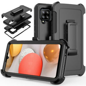 For Samsung Galaxy A42 5G Case Shockproof Cover+Belt Clip Fits Otterbox Defender