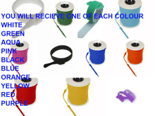 VELCRO ONE-WRAP 1 OF EACH COLOUR x 20 mm x 200mm Cable Tie 10 x CABLE TIES