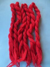 pure wool embroidery needlepoint yarn -6x red skeins