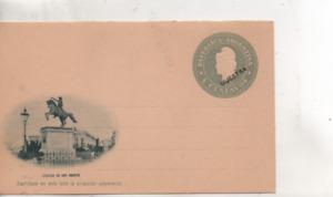 Timbres.entier postal Argentin.4 centavos.carte illustrée .Estatua de San Martin