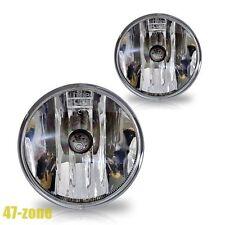 For Chevrolet Ford GMC Pontiac Clear Lens Chrome Housing Fog Lights Lamps Kit