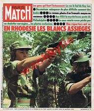 Paris Match n°1421 du 21/08/1976 Rhodésie Ian Smith Racisme Huandoy