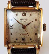 1950s Gents Swiss GP Venus 17J Mechanical Art Deco Style Watch Working
