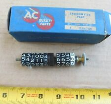 NOS AC SIDE-BY-SIDE ODOMETER & TRIP ODOMETER DIALS FOR 1957-58 BUICK SPEEDOMETER
