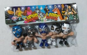 "Wrestling 3"" set of 5 figures, Lucha Libre Luchadores Cabezones (5)"