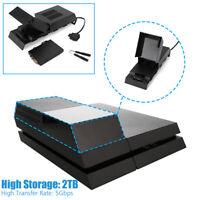 """For Playstation4 PS4 3.5"""" 2TB Storage Capacity Data Bank Hard Drive External Box"""
