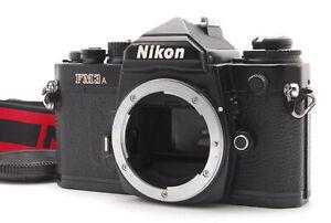 *NEAR MINT w/Strap*  NIKON FM3A Black SLR 35mm Film Camera Body From JAPAN#FedEx