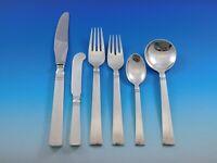 Blok by Georg Jensen Sterling Silver Flatware Set for 6 Service 36 Pcs Dinner