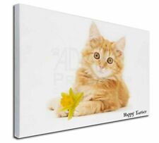 More details for ginger cat any name 'happy easter' x-large 30