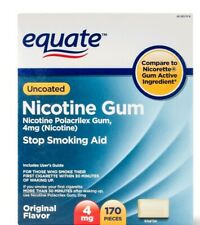Equate Nicotine Gum Uncoated Original Flavor 4 mg 170 Ct