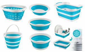 Silicone Collapsible Bowl Folding Basket Washing Basin Bucket Dish Rack Compact