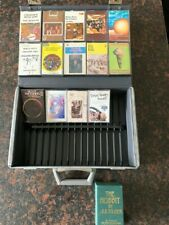 1970's cassette tapes & storage/carry case