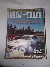Road & Track Magazine 1977 Jaguar XJS Cover Photo