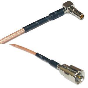 RG316 MS162 Male Angle to FME MALE Coax RF Cable USA-Ship