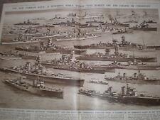 Growth of the new Germany navy Oscar Parkes 1936 old print ref AZ