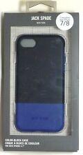 JACK SPADE Color-Block hardshell Case for iPhone 7, iPhone 8- Blue/Fulton black