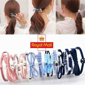New A Set Of 12 Style Hair Ponies Bracelet Elastic Bobbles Rope UK Seller