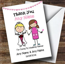 Thank You For Being Our Wedding Makeup Artist Personalised Thank You Card